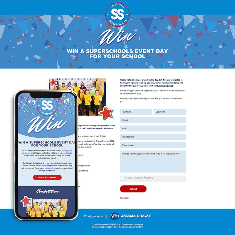 Landing pages specifically for education